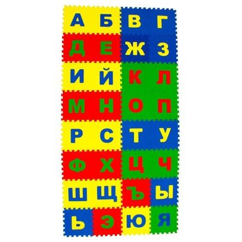 Купить Развивающий коврик пазл детский Русский Алфавит 25Х25 см, 32 детали, ЭкоПолимеры, Игровые коврики