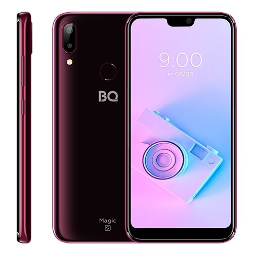 Фото - Смартфон BQ 5731L Magic S винно-красный сотовый телефон bq 5731l magic s ultra violet