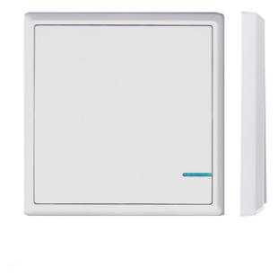 Выключатель GRITT Electric A181101WWF, белый фото 1