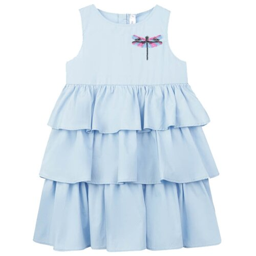 Купить Сарафан playToday размер 122, голубой, Платья и сарафаны