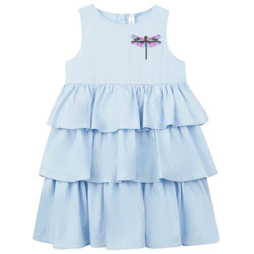 Сарафан playToday размер 122, голубой balloon and butterfly голубой сарафан с розами