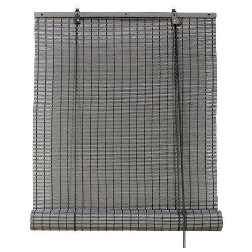 Рулонная штора Эскар бамбуковые (серый), 160х160 см