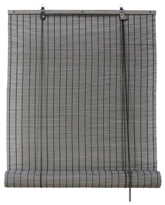 Рулонная штора Эскар бамбуковые (серый)