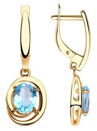 Diamant Серьги из золота с топазами 51-321-00177-1 — купить по выгодной цене на Яндекс.Маркете
