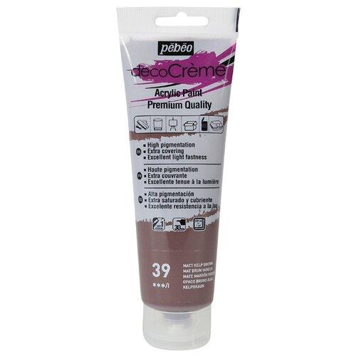 Купить Краска акриловая кремовая матовая PEBEO decoCreme , 120 мл, цвет: 089039 бурый, Краски