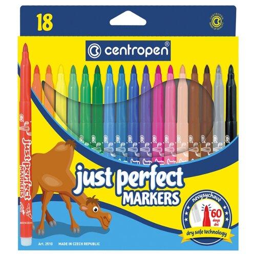Купить Centropen Набор фломастеров Just Perfect, 18 шт. (2510/18 KK), Фломастеры и маркеры