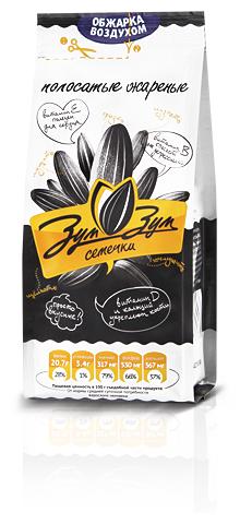Семена подсолнечника Зум-Зум полосатые жареные 70 г