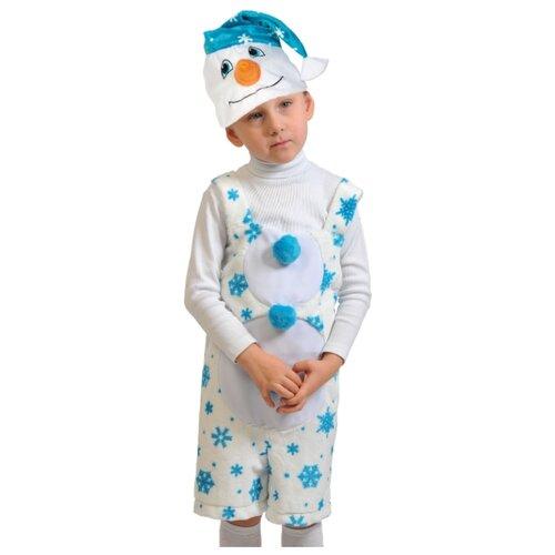 Купить Костюм КарнавалOFF Снеговичок плюш (3012), белый, размер 92-122, Карнавальные костюмы