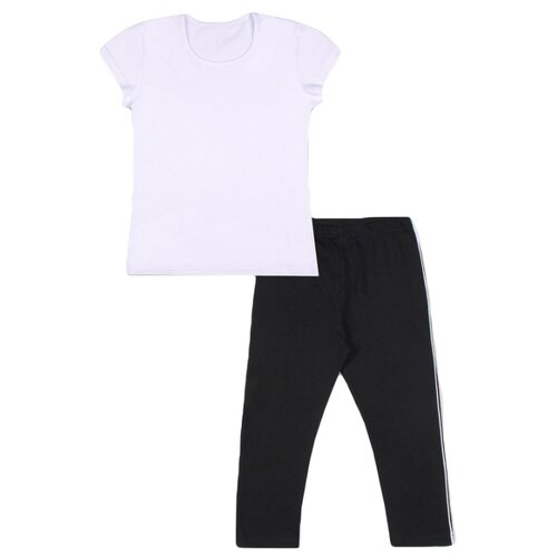 Спортивный костюм Апрель размер 98-52, белый/черный