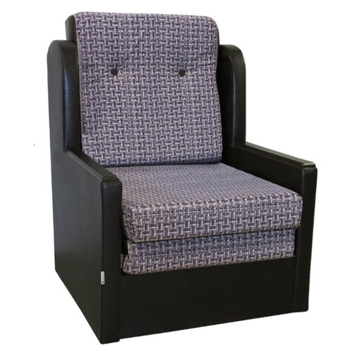 Кресло-кровать Шарм-Дизайн Классика Д размер: 77х83 см, , размер спального места: 190х62 см, обивка: комбинированная, цвет: серый