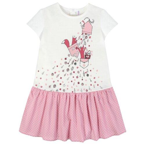 Купить Платье Мамуляндия размер 116, молочный/темно-розовый, Платья и сарафаны