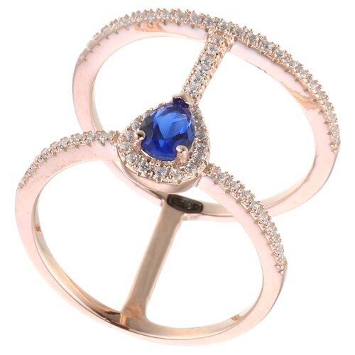 Фото - ELEMENT47 Широкое ювелирное кольцо из серебра 925 пробы с кубическим цирконием MR074016K0B_KO_001_PINK, размер 18 element47 широкое ювелирное кольцо из серебра 925 пробы с кубическим цирконием 05s2azr104804curi 001 wg размер 18