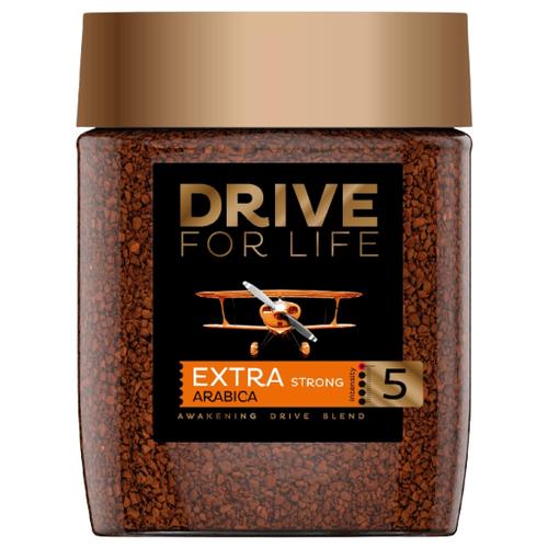 Кофе растворимый DRIVE for LIFE Extra Strong, стеклянная банка, 100 г банка для кофе easy life время кофе 13 8 21 см