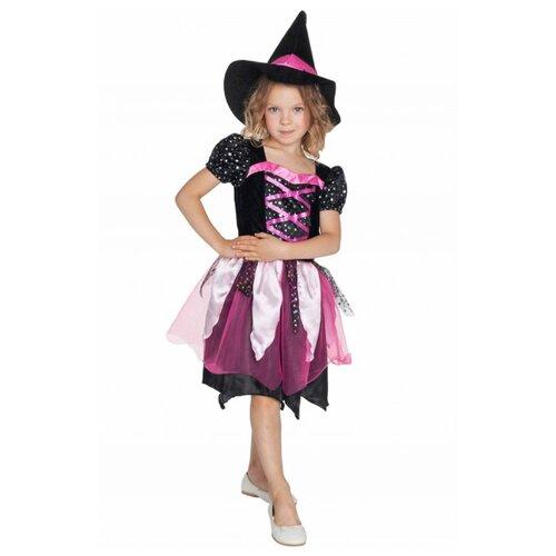 Купить Костюм ВКостюме.ру Маленькая Ведьмочка (1027656), черный, размер 113, Карнавальные костюмы