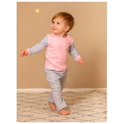 Пижама Лапушка размер 74, розовый