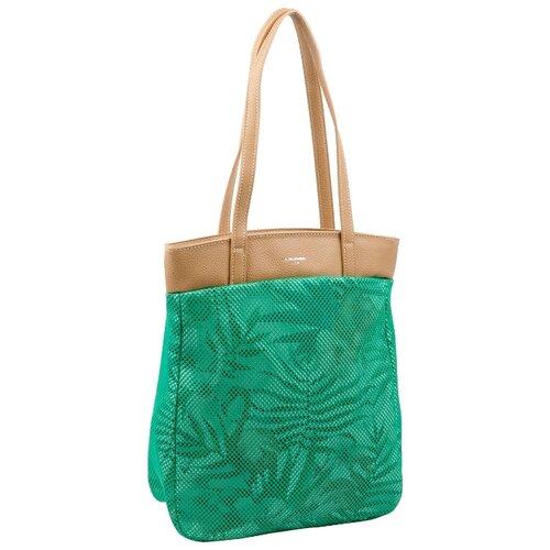 Сумка тоут DAVID JONES 5130 CM, текстиль, зеленый цена 2017