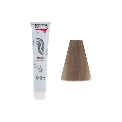 Kaaral Baco Color крем-краска для волос, 10.10 очень-очень светлый пепельный блондин, 100 мл