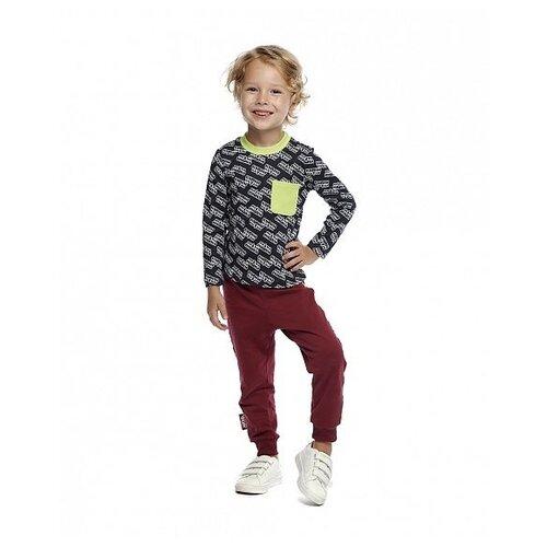 Фото - Лонгслив lucky child Ми-ми-мишки размер 22 (68-74), серый футболка для мальчика lucky child ми ми мишки цветная 68 74