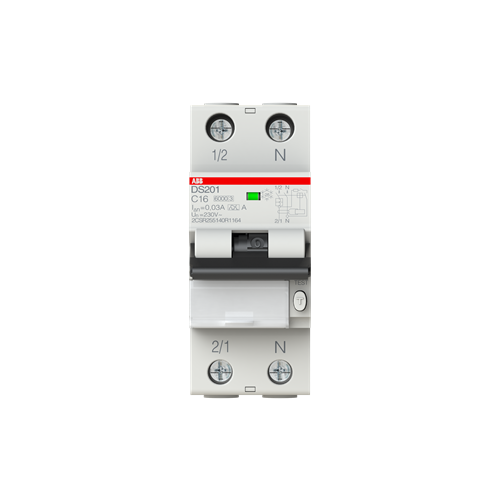 Дифференциальный автомат ABB DS201 2П 30 мА C 16 А автомат abb bms412c63