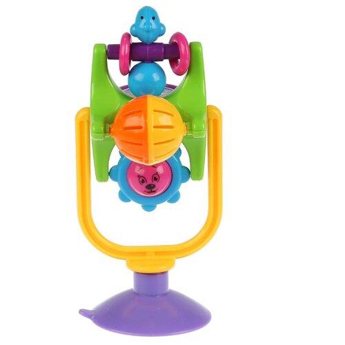 Купить Погремушка Умка Солнышко TY9024-R зеленый/желтый/фиолетовый, Погремушки и прорезыватели
