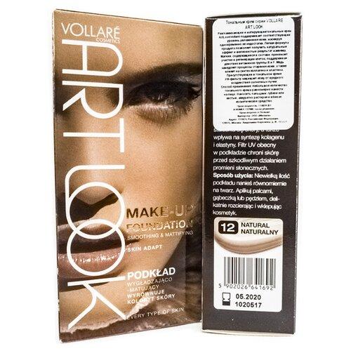 Фото - Vollare Тональный крем Art Look Make-up Foundation, оттенок: 12 eveline cosmetics тональный крем art scenic professional make up 30 мл оттенок пастельный
