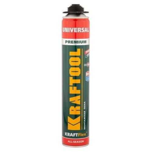 Монтажная пена Kraftool KraftFlex Premium Universal 41182_Z01 750 мл всесезонная пена монтажная макрофлекс профессиональная всесезонная 750 мл