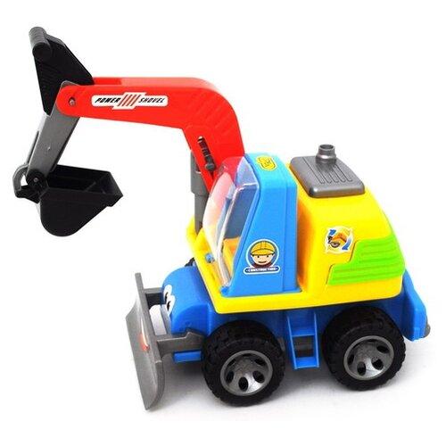 Купить Экскаватор Shenzhen Toys cмешной (3008) 18 см, Машинки и техника