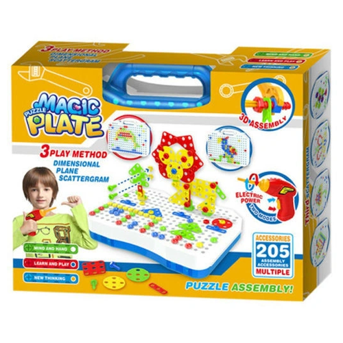 Duolegu toys Конструктор-мозаика Magic Plate Puzzle, 205 деталей