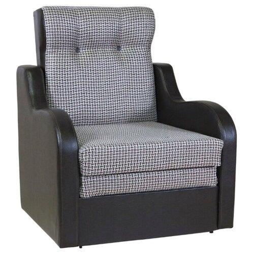 Кресло-кровать Шарм-Дизайн Классика В размер: 80х83 см, , размер спального места: 199х62 см, обивка: комбинированная, цвет: рогожка коричневый