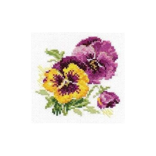 Фото - Алиса Набор для вышивания Анютины глазки 11 х 10 см (0-081) набор для вышивания анютины глазки лён 30 ct