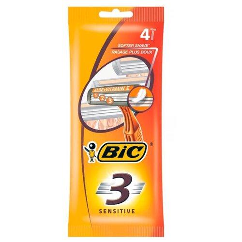 Бритвенный станок Bic 3 Sensitive, 4 шт.