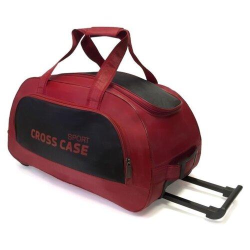 Сумка дорожная Cross Case CCB-1041 на колесах, красный/черный