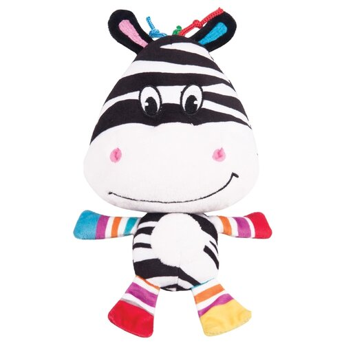 Развивающая игрушка Happy Snail Весёлая Фру-Фру белый/черный игрушка подвес happy snail зебра фру фру 14hs010pz