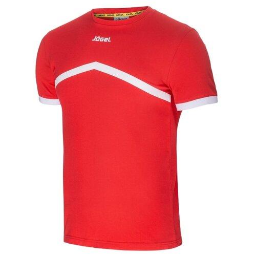Купить Футболка Jogel JCT-1040 размер YL, красный/белый, Футболки и топы