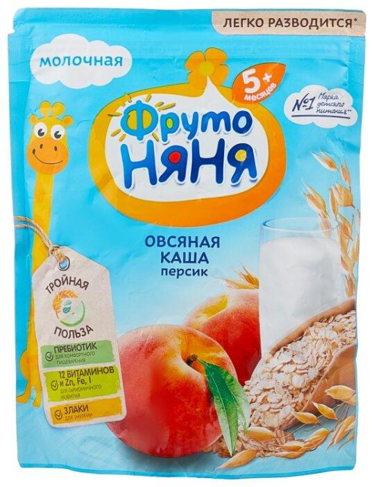 Каша ФрутоНяня молочная овсяная с персиком (с 5 месяцев) 200 г