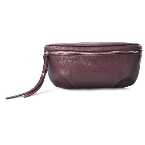 Сумка поясная Afina, натуральная кожа, вино сумка afina сумка