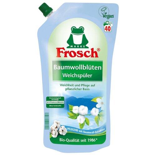 Концентрированный ополаскиватель для белья Цветы хлопка Frosch 1 л пакет бытовая химия dosia ополаскиватель для белья пробуждение весны концентрированный 1 л