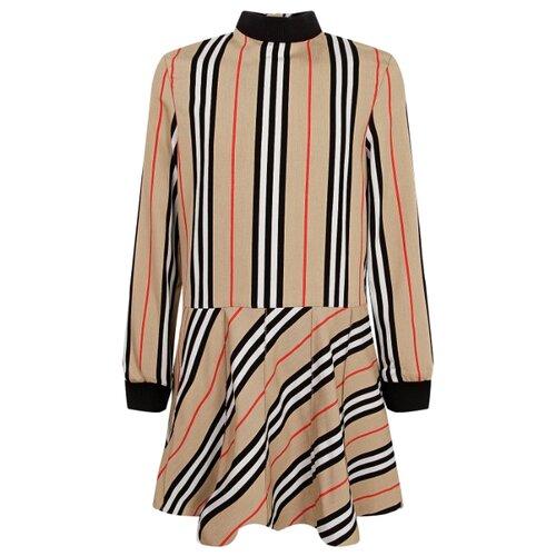 Платье Burberry размер 98, бежевый