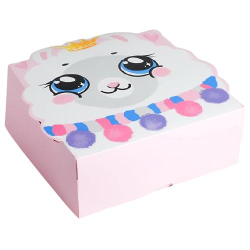 Коробка подарочная Дарите счастье Принцесса 25 х 10 х 25 см белый/розовый недорого