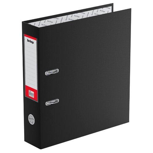 Berlingo Папка-регистратор с карманом на корешке Standard А4, бумвинил, 70 мм черный berlingo папка регистратор с карманом на корешке standard а4 бумвинил 70 мм красный