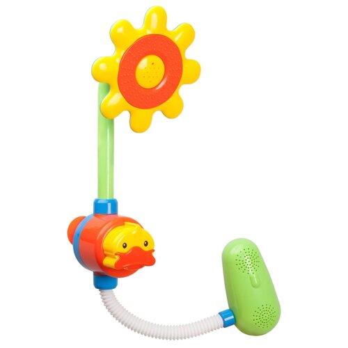 Купить Игрушка для ванной Жирафики Цветок (939583) желтый/зеленый/оранжевый, Игрушки для ванной