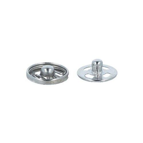 Фото - Gamma Кнопки пришивные (KL-082), под никель, 8.2 мм, 10 шт. gamma клипсы для подтяжек 2 см sus 20 никель 4 шт
