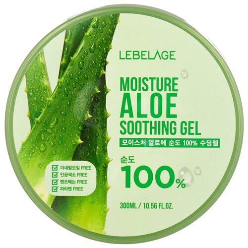 Купить Гель для тела Lebelage увлажняющий успокаивающий с экстрактом алоэ Moisture Aloe Soothing Gel, 300 мл