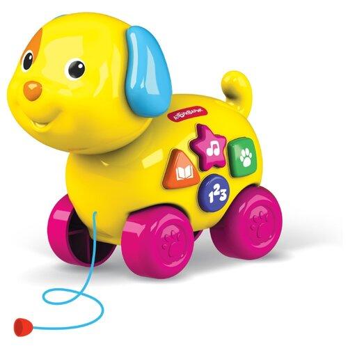 Купить Развивающая игрушка Азбукварик Веселая каталочка Собачка желтый, Развивающие игрушки
