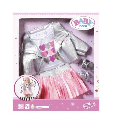 Zapf Creation Комплект одежды для куклы Baby Born 824931 серебристый/розовый my little baby born комплект одежды для дома 823 149