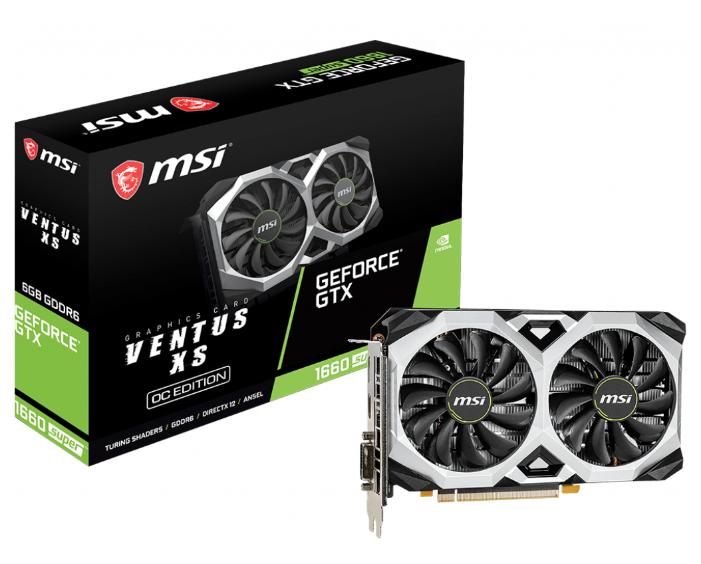 Видеокарта MSI GeForce GTX 1660 SUPER 1815MHz PCI-E 3.0 6144MB 14000MHz 192 bit DVI DisplayPort HDMI