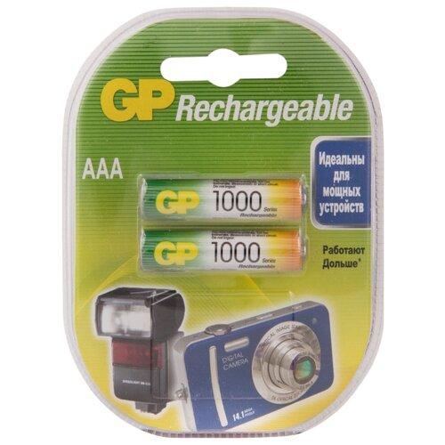 цена на Аккумулятор Ni-Mh 950 мА·ч GP Rechargeable 1000 Series AAA 2 шт блистер