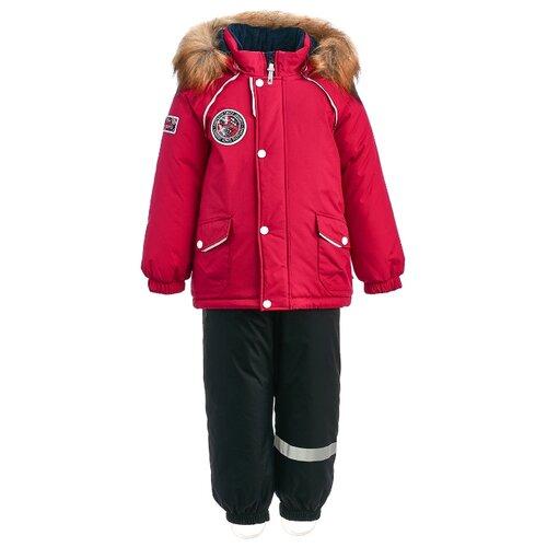 Комплект с полукомбинезоном KISU размер 92, красный/черный ботинки t taccardi размер 32 черный
