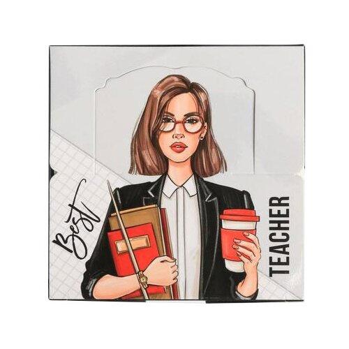 Купить ArtFox Бумага для записей в коробке Best teacher (4798803) белый/розовый, Бумага для заметок