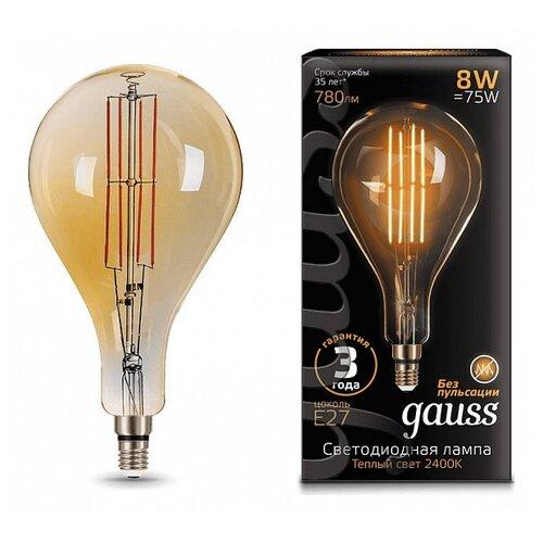Лампа светодиодная gauss 149802008, E27, 8Вт лампа светодиодная gauss 33138 e14 c37 8вт